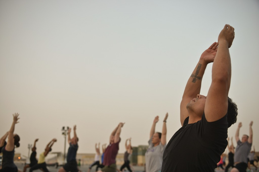 Attending a free yoga session is a great way to connect with other yogis around NYC.